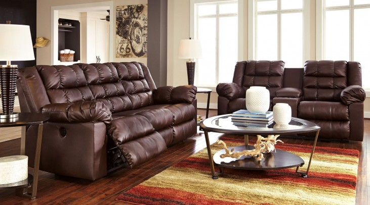 Brolayne DuraBlend Brown Reclining Living Room Set