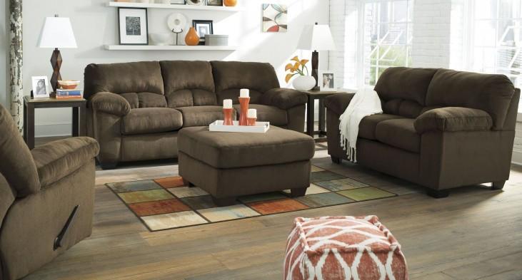 Dailey Chocolate Living Room Set