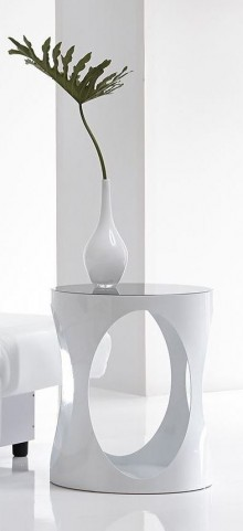 Marlow White High Gloss End Table