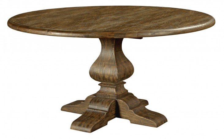 """Artisans Shoppe 60"""" Tobacco Round Dining Table with Wood Base"""
