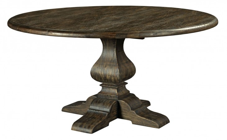 "Artisans Shoppe 60"" Black Forest Round Dining Table with Wood Base"