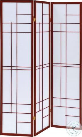 900110 Cherry 3 Panel Folding Screen