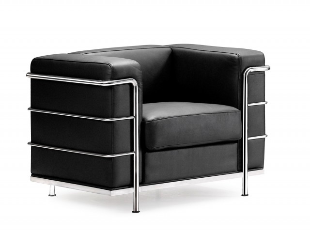Fortress Black Armchair