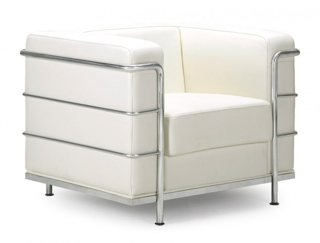 Fortress White Armchair