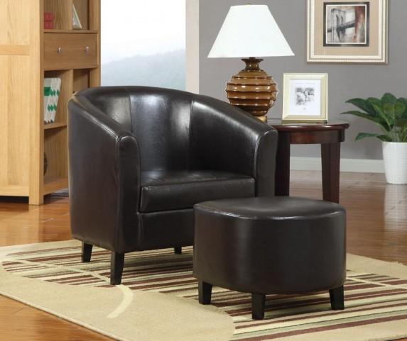 Dark Brown Accent Chair 900240