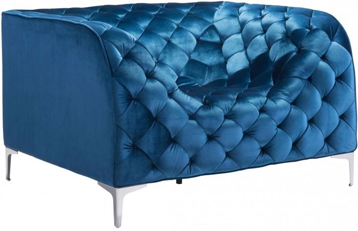 Providence Neon Blue Velvet Arm Chair