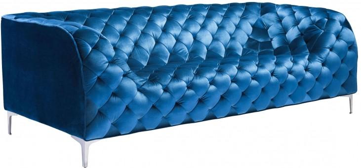 Providence Neon Blue Velvet Sofa
