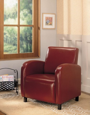 Red Vinyl Chair 900335
