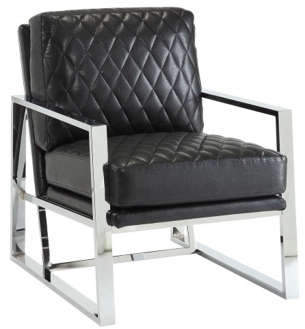 Black Leatherette Accent Chair
