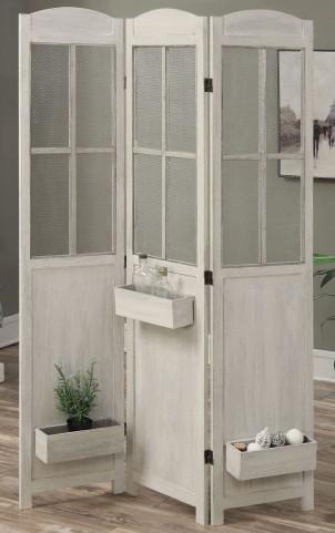 Antique White Folding Screen