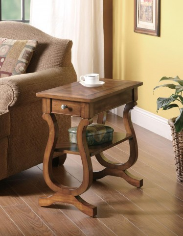 Warm Brown Chairside Table 900975