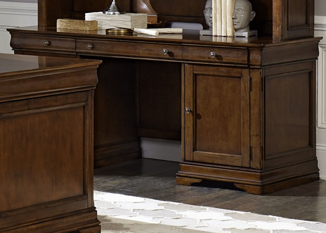 Chateau Valley Brown Cherry Jr Executive Credenza