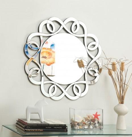 Decorative Swirls Frameless Mirror