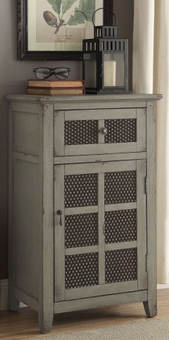 Antique Grey Accent Cabinet