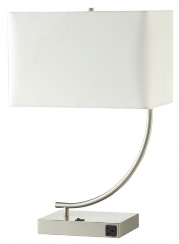 901537 Stain Nickel Table Lamp Set of 2