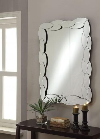 Oval Shape Framed Mirror