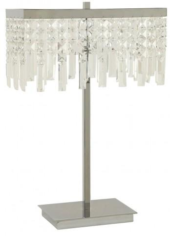 Chrome Crystal Shade Table Lamp