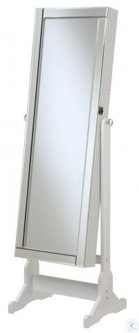 901827 White Jewelery Cheval Mirror