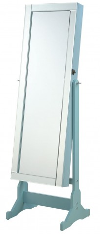 Blue Jewelry Cheval Floor Mirror