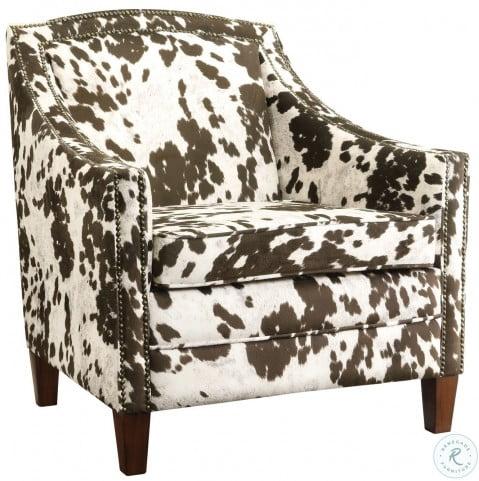 Incredible 902134 Brown White Cow Pattern Accent Chair Machost Co Dining Chair Design Ideas Machostcouk