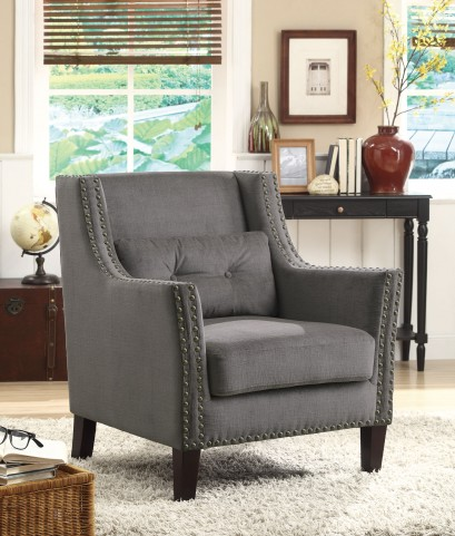 902170 Grey Accent Chair