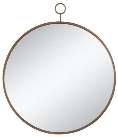 Gold Circular Accent Mirror