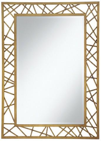 Gold Geometric Accent Mirror