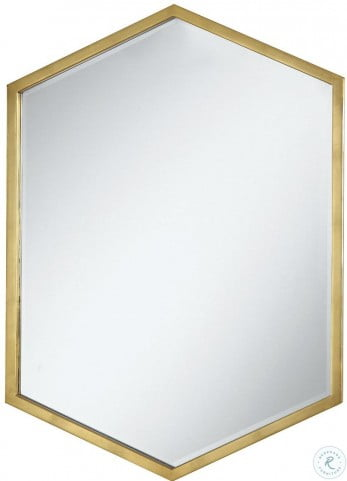 902356 Gold Hexagon Accent Mirror