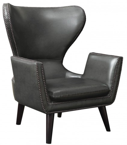 High Back Leatherette Accent Chair