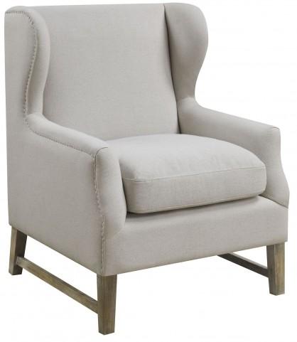 Oatmeal Linen-Like Fabric Chair
