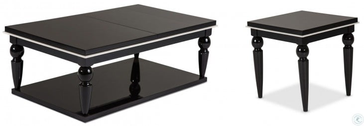 Sky Tower Black Ice End Table