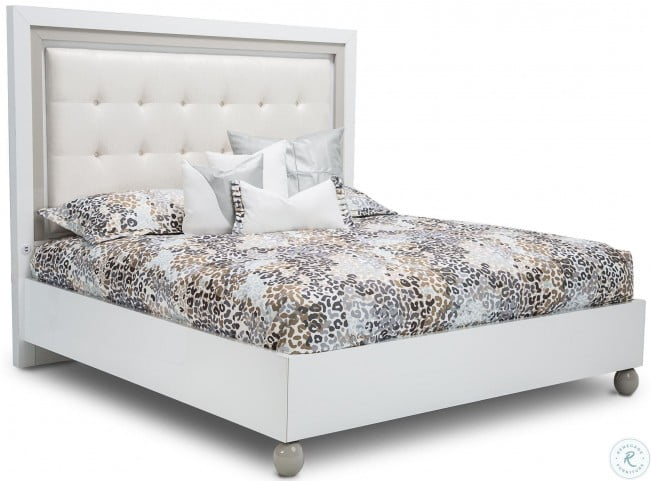 Sky Tower White Cloud King Panel Bed