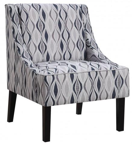 Light Blue Pattern Accent Chair
