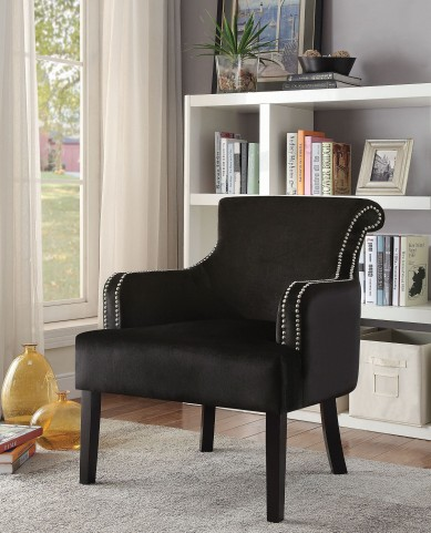 902679 Black Accent Chair