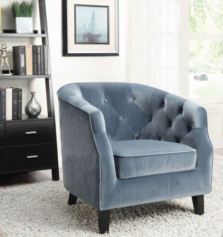 Dusty Blue Accent Chair
