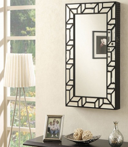Cheval Black Wall Mounted Jewelry Armoire