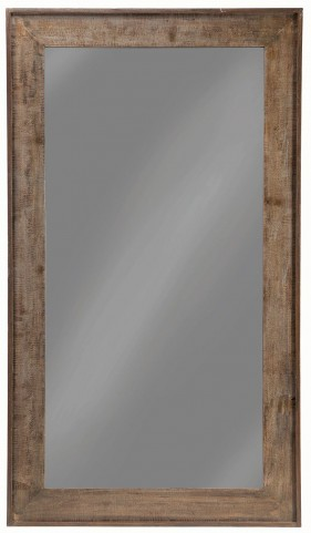 "36"" Distressed Black Floor Mirror"