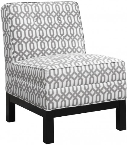 Pewter and White Fabric Chair