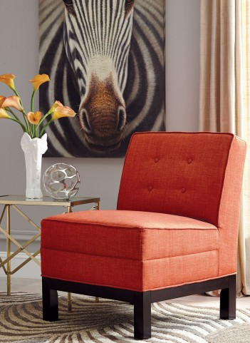 Persimmon Fabric Chair