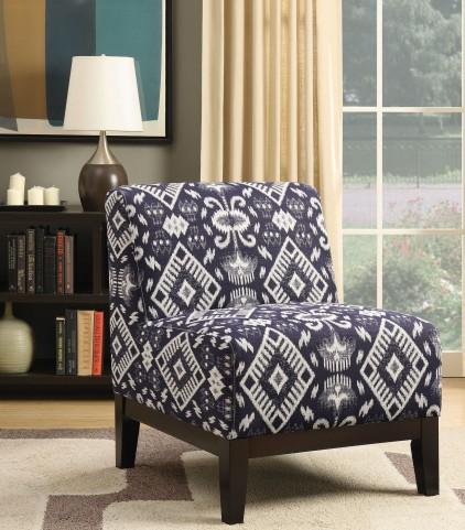 Dark Blue Accent Chair