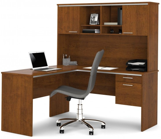 Flare Tuscany Brown L-Shaped Workstation