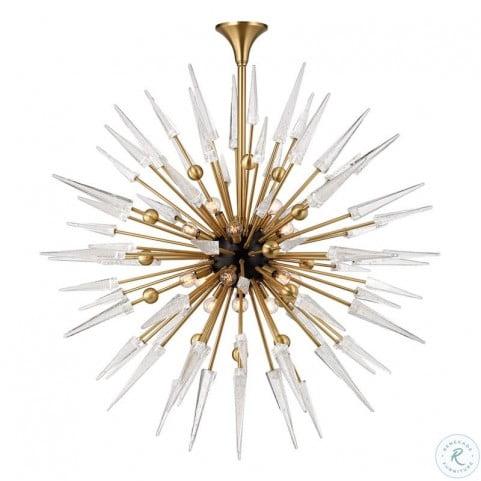 Sparta Aged Brass 18 Light Chandelier