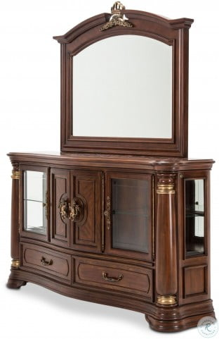 Grand Masterpiece Royal Sienna Sideboard Mirror