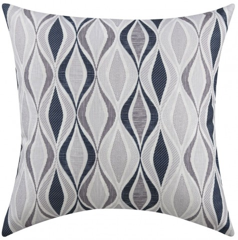 Grey Ribbon Accent Pillow Set of 2