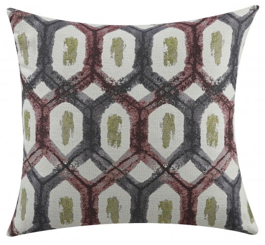Red And Grey Turtle Shell Accent Pillow Set of 2
