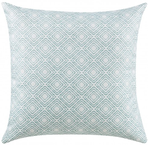 Oatmeal and Blue Accent Pillow Set of 2