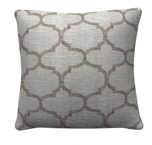 905316 Grey Quatrefoil Pillows Set of 2
