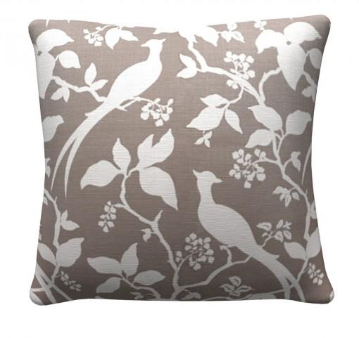905317 Grey Floral Pillows Set of 2