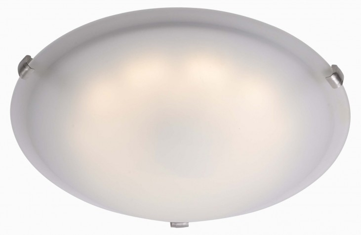 Aero Brushed Steel LED Large Flush mount