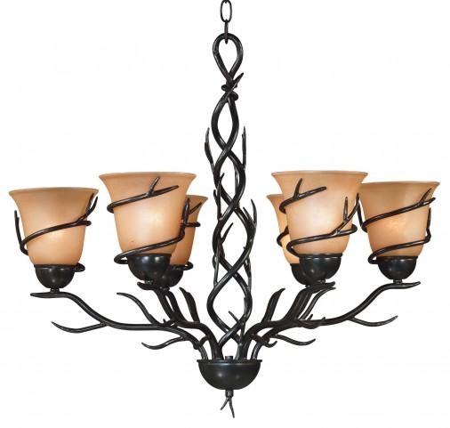 Twigs 6 Light Chandelier